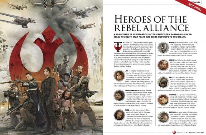 ¿Quién es quién en Rogue One: A Star Wars Story?